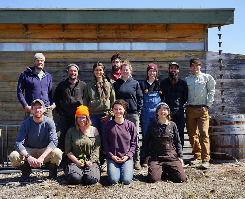 Hawthorne Valley Farm staff at the Corner Garden